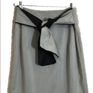 Worthington gray career skirt tie back size 10